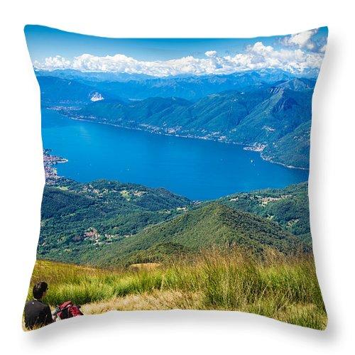 Lago Maggiore Throw Pillow featuring the photograph Lago Maggiore Italy Switzerland by Matthias Hauser