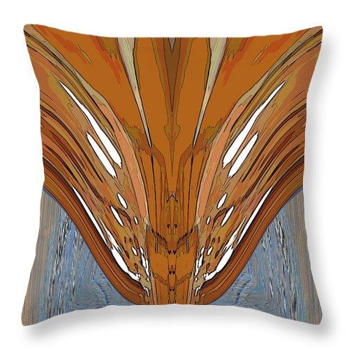 Lahar Throw Pillow featuring the digital art Lahar by Tim Allen