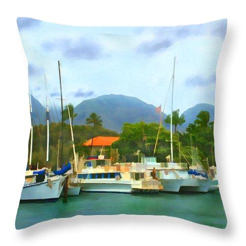 Lahina Throw Pillow featuring the photograph Lahina Harbor by Kurt Van Wagner