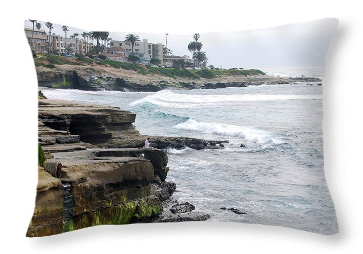 Lajolla Throw Pillow featuring the photograph Lajolla by Bill Dutting