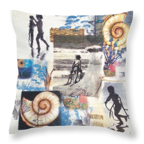 Abstract Throw Pillow featuring the painting LaJolla by Valerie Meotti
