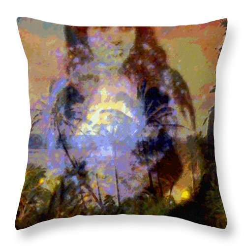 Rainbow Colors Digital Throw Pillow featuring the photograph Laka Hula Akua by Kenneth Grzesik