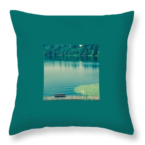 Lake Throw Pillow featuring the photograph Lake by Andrew Redford