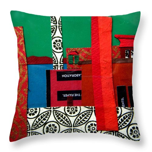 Burlington Throw Pillow featuring the mixed media Lake Champlain by Debra Bretton Robinson