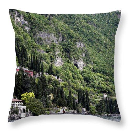 Como Throw Pillow featuring the photograph Lake Como 15 by Andrew Fare