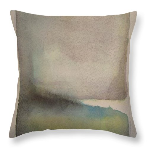 Abstract Throw Pillow featuring the painting Lake Dayspring by Vesna Antic