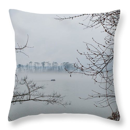 Fishing Throw Pillow featuring the photograph Lake Guntersville by Bernd Billmayer