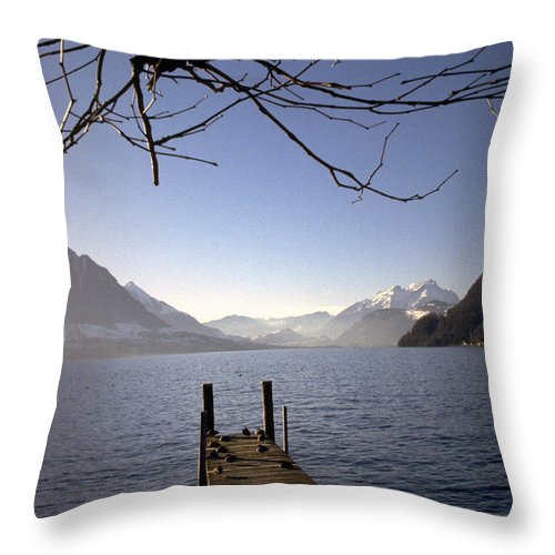 Lake Lucerne Throw Pillow featuring the photograph Lake Lucerne by Flavia Westerwelle