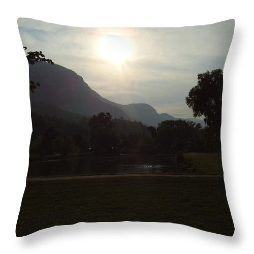 Lake Lure Throw Pillow featuring the photograph Lake Lure by Flavia Westerwelle