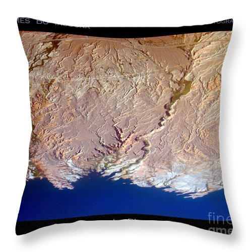 Aerial Throw Pillow featuring the photograph Lake Mead - Planet Art by James BO Insogna