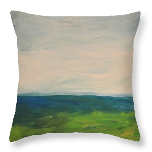 Lake Throw Pillow featuring the painting Lake Michigan by Tim Nyberg