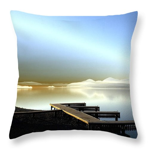 Landscape Throw Pillow featuring the photograph Lake Pend D'oreille Fantasy by Lee Santa