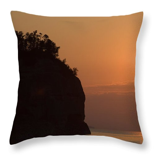 Lake Throw Pillow featuring the photograph Lake Superior Sunset by Sebastian Musial