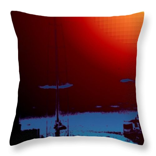 Seattle Throw Pillow featuring the photograph Lake Union Moorage by Tim Allen