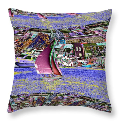 Seattle Throw Pillow featuring the photograph Lake Union Sail by Tim Allen