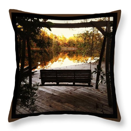 Lakeview Throw Pillow featuring the photograph Lake View by Artie Rawls