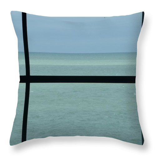 Lake Michigan Throw Pillow featuring the photograph Lake View I by Anna Villarreal Garbis