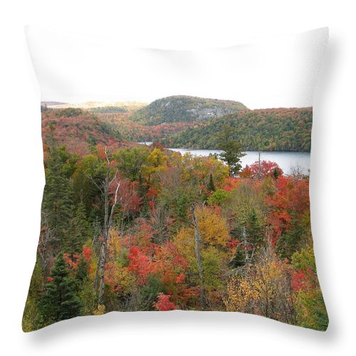 Fall Throw Pillow featuring the photograph Lakeside by Kelly Mezzapelle