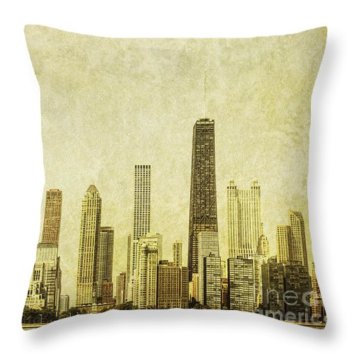 Chicago Throw Pillow featuring the photograph Lakeside Views by Andrew Paranavitana