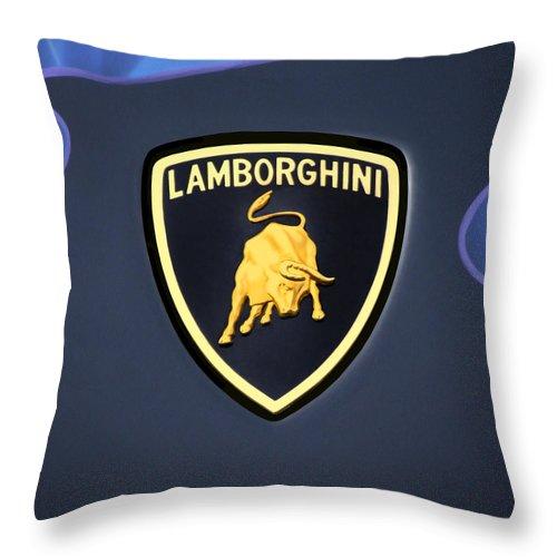 Lamborghini Emblem Throw Pillow For Sale By Mike Mcglothlen