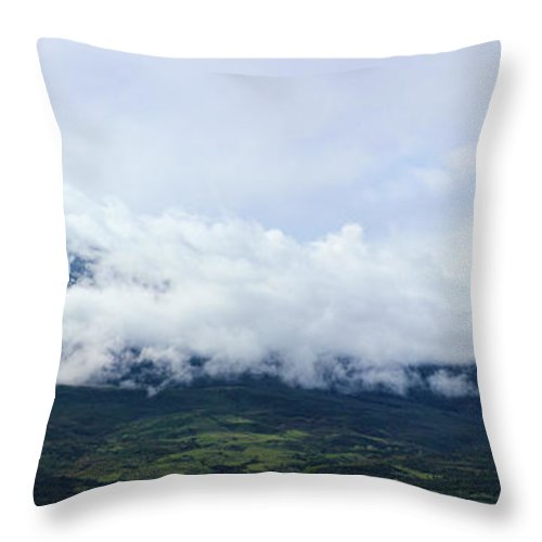 Mountains Throw Pillow featuring the photograph Lamborn Pano by Samantha Burrow