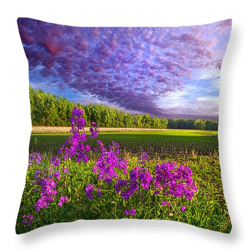 Country Life Throw Pillow featuring the photograph L'amore De Ma Vie by Phil Koch