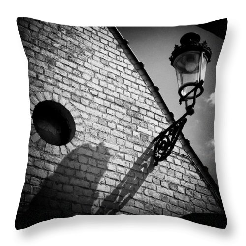 Lamp Throw Pillow featuring the photograph Lamp With Shadow by Dave Bowman