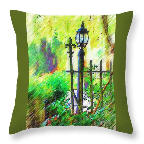 Lamppost Throw Pillow featuring the photograph Lamppost by Donna Bentley