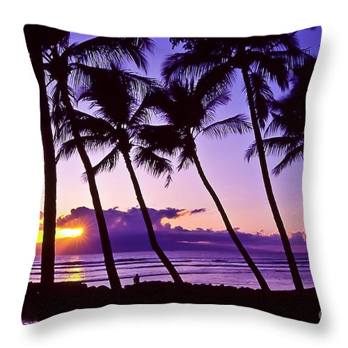 Landscapes Throw Pillow featuring the photograph Lanai Sunset by Jim Cazel