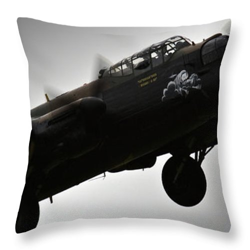 Lancaster Throw Pillow featuring the photograph Lancaster by Angel Ciesniarska