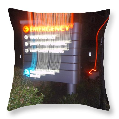 Photograph Throw Pillow featuring the photograph Lancaster Genral Emergency Room by Thomas Valentine