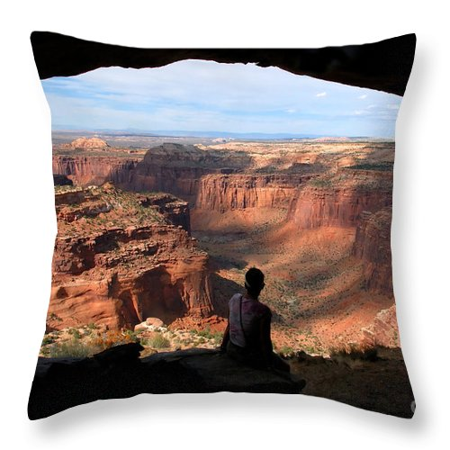 Canyon Lands National Park Utah Throw Pillow featuring the photograph Land Of Canyons by David Lee Thompson