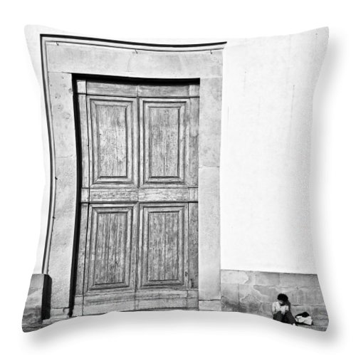 Door Throw Pillow featuring the photograph Land Of The Giants by Dave Bowman