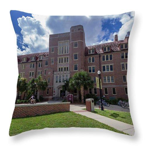 Landis Hall At Florida State University Throw Pillow For Sale By Bryan Pollard