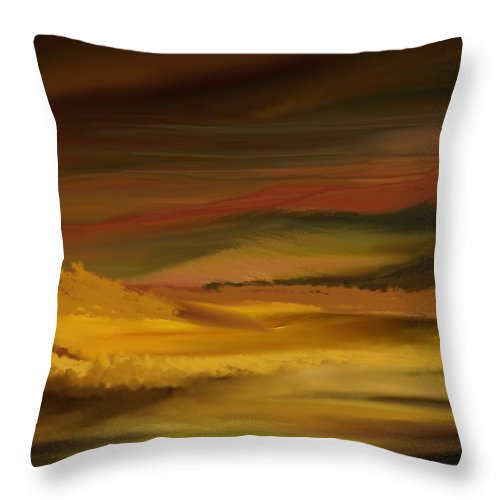 Fine Art Throw Pillow featuring the digital art Landscape 022111 by David Lane