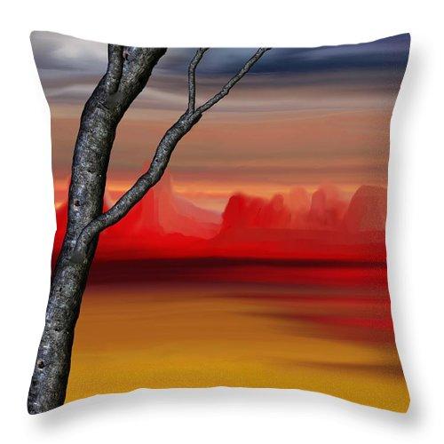Landscape Throw Pillow featuring the digital art Landscape 090210 by David Lane