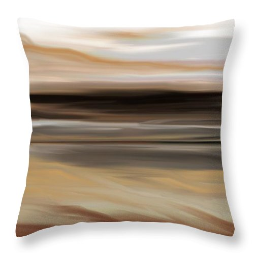Landscape Throw Pillow featuring the digital art Landscape 103010 by David Lane