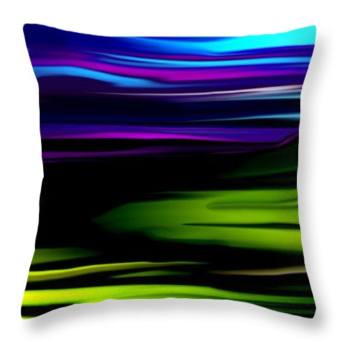 Abstract Expressionism Throw Pillow featuring the digital art Landscape 8-05-09 by David Lane