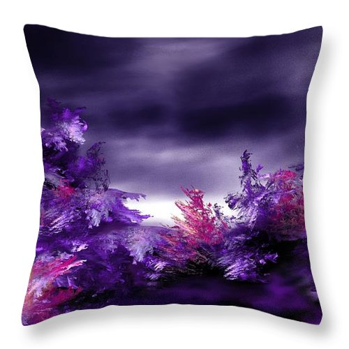 Abstract Digital Painting Throw Pillow featuring the digital art Landscape 9-26-09 by David Lane