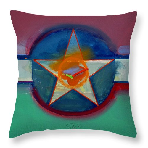 Star Throw Pillow featuring the painting Landscape In The Balance by Charles Stuart