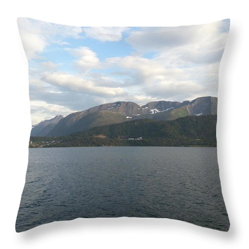 Landscape Throw Pillow featuring the photograph Landscape by Mariana Goia
