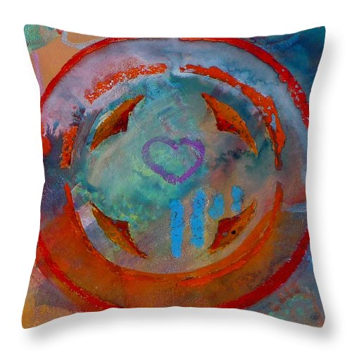 Love Throw Pillow featuring the painting Landscape Seascape by Charles Stuart