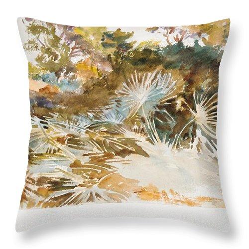 Landscape With Palmettos Throw Pillow featuring the painting Landscape With Palmettos by John Singer