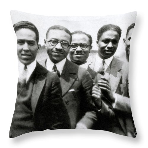 Langston Hughes And Friends 1924 Throw Pillow For Sale By Science Source