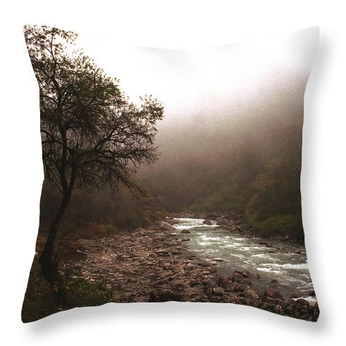 Tree Throw Pillow featuring the photograph Langtang Morning by Patrick Klauss