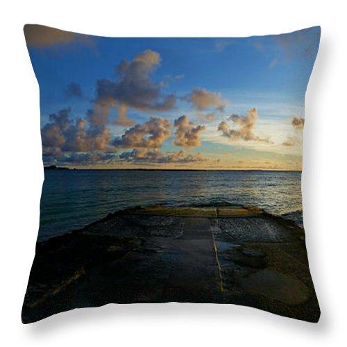 Sunrise Throw Pillow featuring the photograph Lanikai At Sunrise by Lisa Brooks-Naki