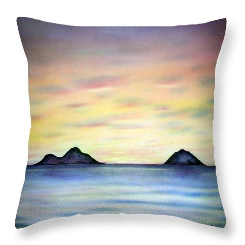 Lanikai Throw Pillow featuring the painting Lanikai Dawn by Kevin Smith