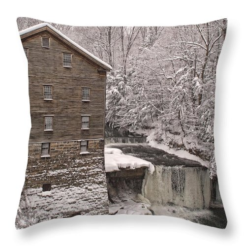 Lanterman's Mill Throw Pillow featuring the photograph Lanterman's Mill by Michael McGowan