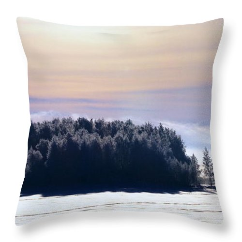 Lehtokukka Throw Pillow featuring the photograph Lappajarvi2 by Jouko Lehto
