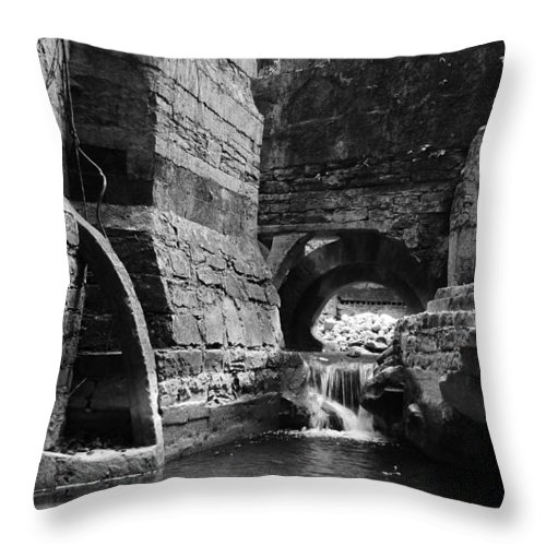 Skip Hunt Throw Pillow featuring the photograph Las Pozas 1 by Skip Hunt